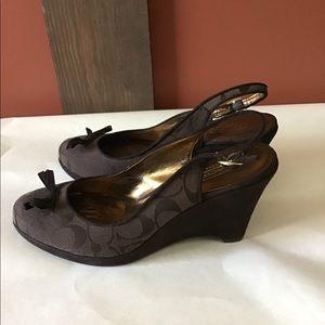 Coach shoes brown 8m